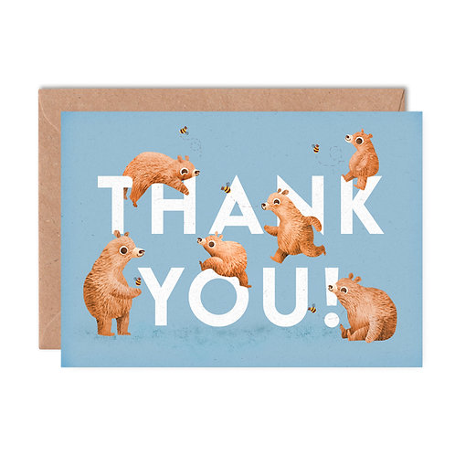Thank You Bears Greeting Card