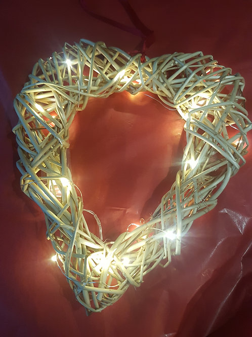 Heart wreath with LED lights