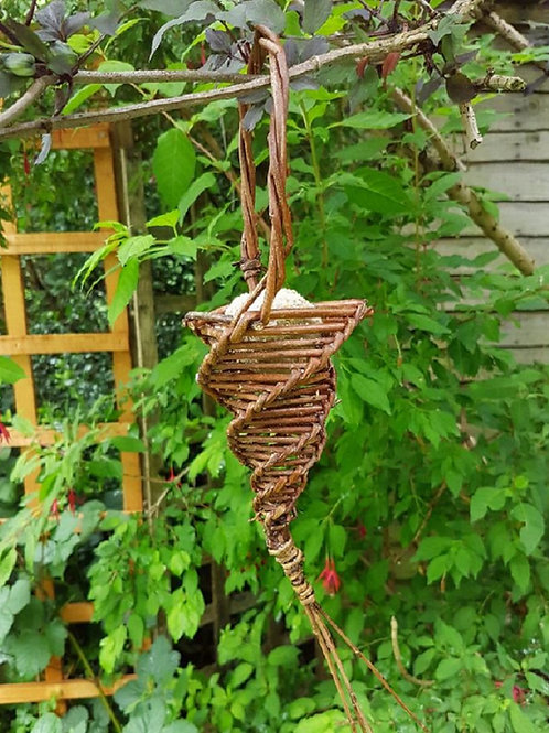 Twisted peanut bird feeder