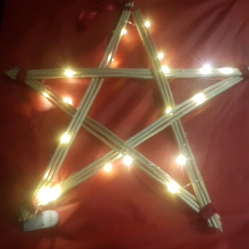 Five point star with LED lights