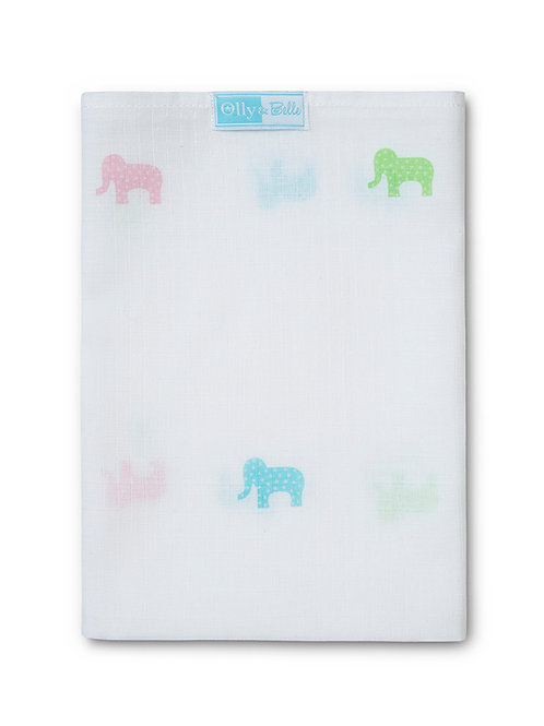 Elephant muslin comforter - Pack of 6