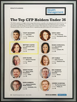 Top CFP Holders Under 36
