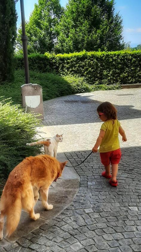 Mina, Gatto Nico e la loro amica Gaia