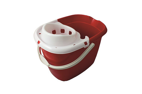 Red Mop Bucket With Wringer 15L