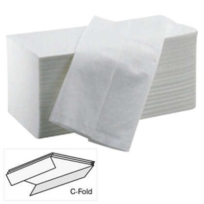 C Fold Hand Towel 1ply White packsize 2600