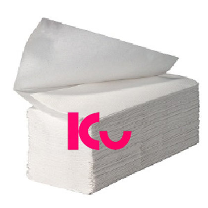 V Fold Hand Towels White 2ply 3000 sheets