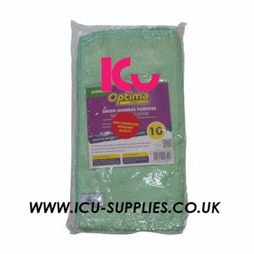 Microfibre Cloth Green X10