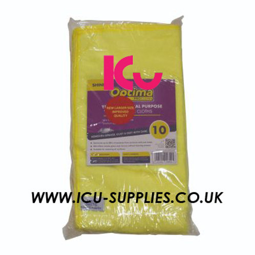 Microfibre Cloth Yellow X10
