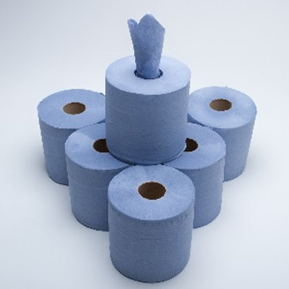 Centrefeed Blue1ply 300M packsize 6