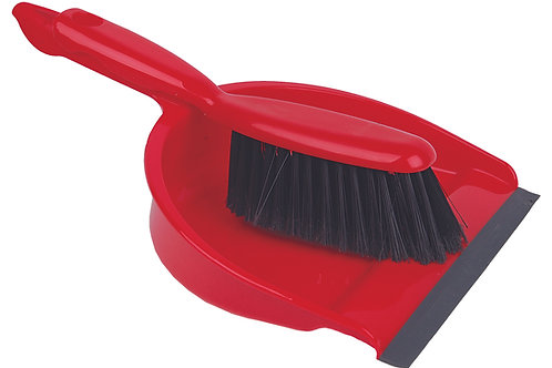 Dustpan & Brush Set Red