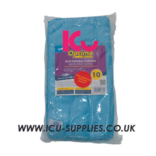 Microfibre Cloth Blue X10