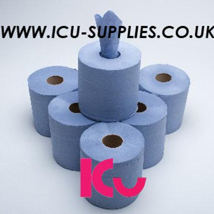 Blue Centrefeed 150M 6 Rolls