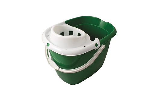 Green Mop Bucket With Wringer 15L