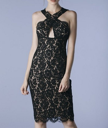 Ceci Lace Halter Dress