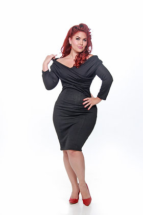 Classic Wiggle Black Dress