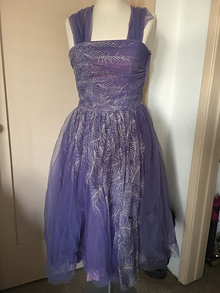 Vintage Lavendar Tulle Dress