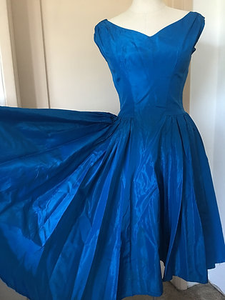 Vintage Taffeta Emma Domb Dress
