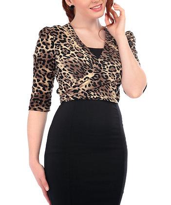 Jenny Leopard Wrap Cardigan