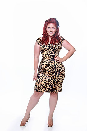 Dolores Leopard Print Dress