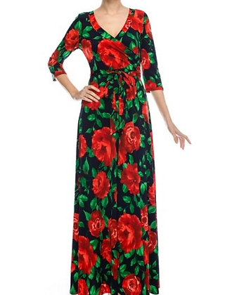 Red Rose Maxi Dress