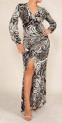 Classic Paisley Maxi Dress