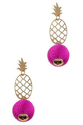 Pineapple Ball Earrings