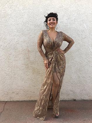 Deco Gold Dress