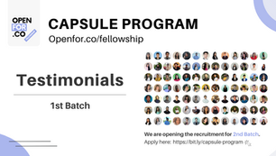 Capsule Program Testimonials - 1st Batch