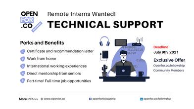 [Recruiting: Interns] Remote Technical Support Intern