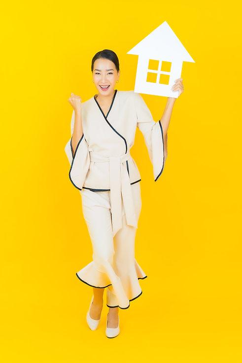 Portrait beautiful young business asian