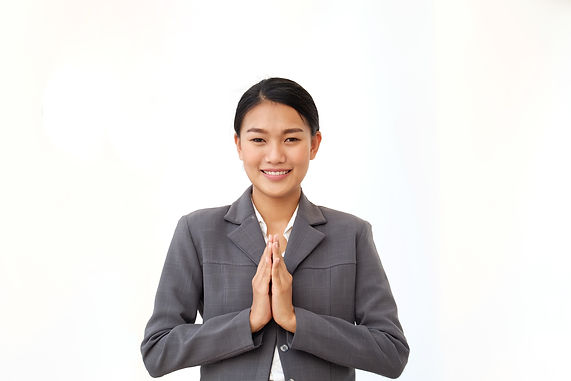 Asian women in business suit  in greetin