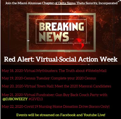 VIRTUAL SOCIAL ACTION WEEK MAC DST