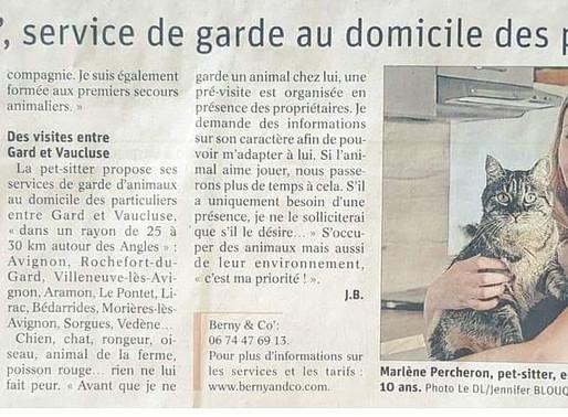 Berny & Co' a fait son apparition  dans le journal .. 😃