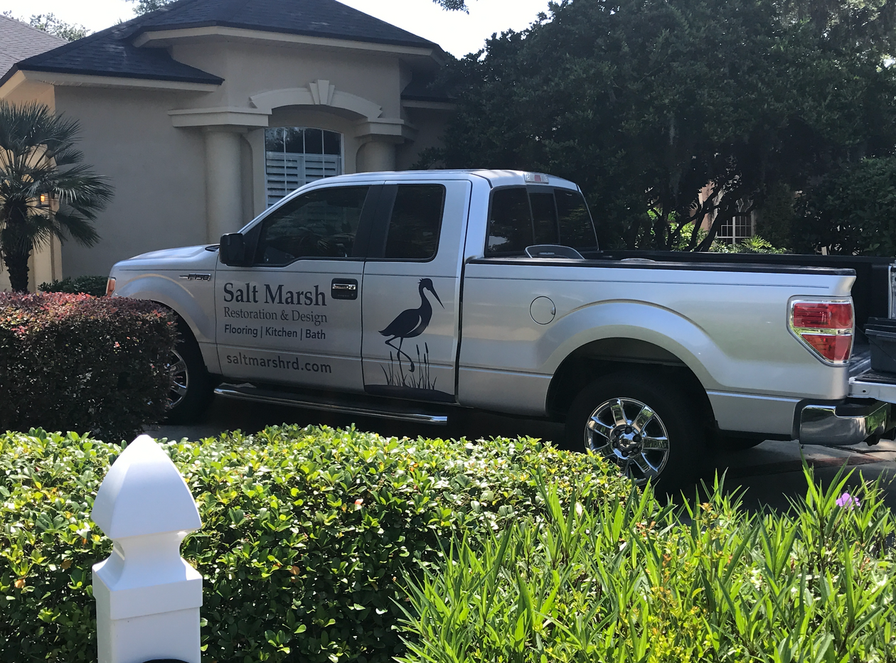 custom vehicle wrap for Salt Marsh company