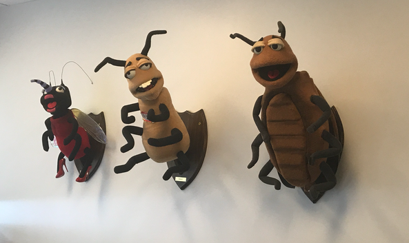 custom fabricated puppets for Turner Pest Control