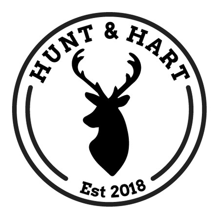 Custom logo for Hunt and Hart leather goods company