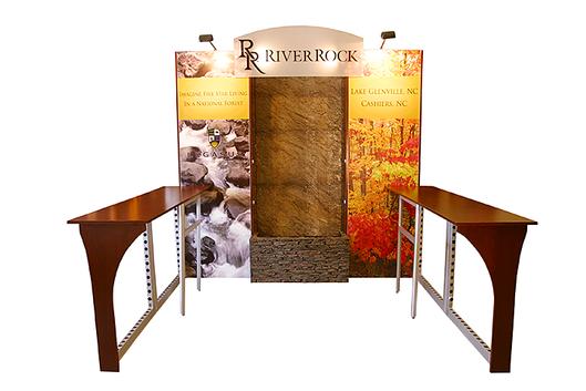 River rock  tradeshow exhibit rendering