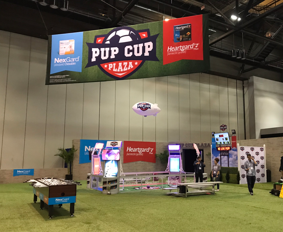 pup cup tradeshow display