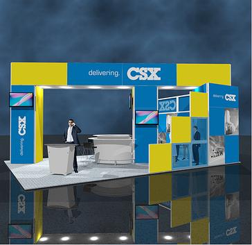 CSX tradeshow display made by Bill-O-Vizion