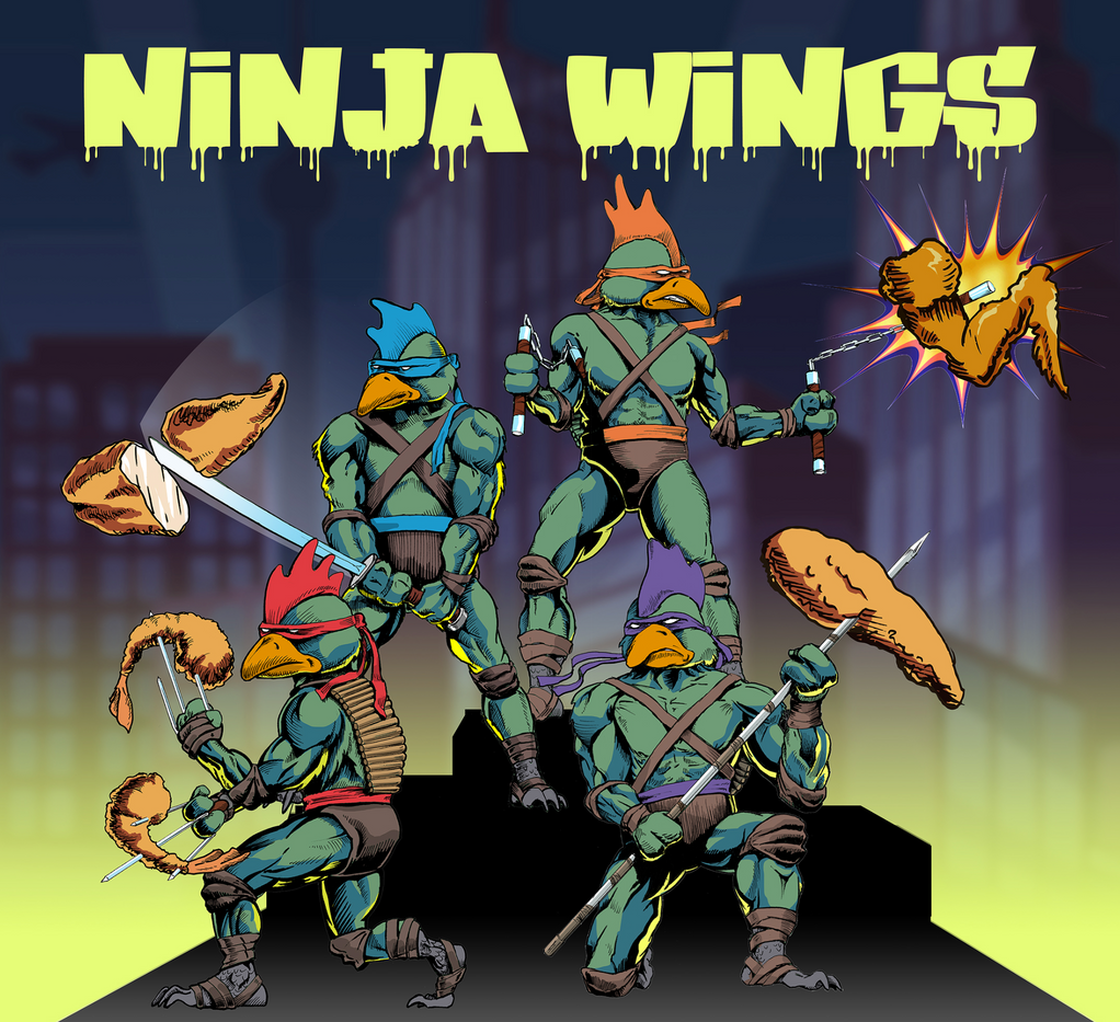 Ninja Wings custom graphic design