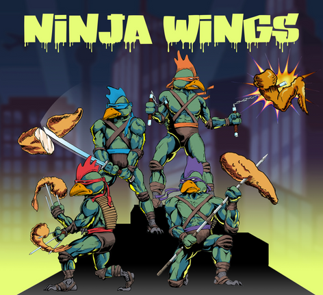 Ninja Wings custom graphic design