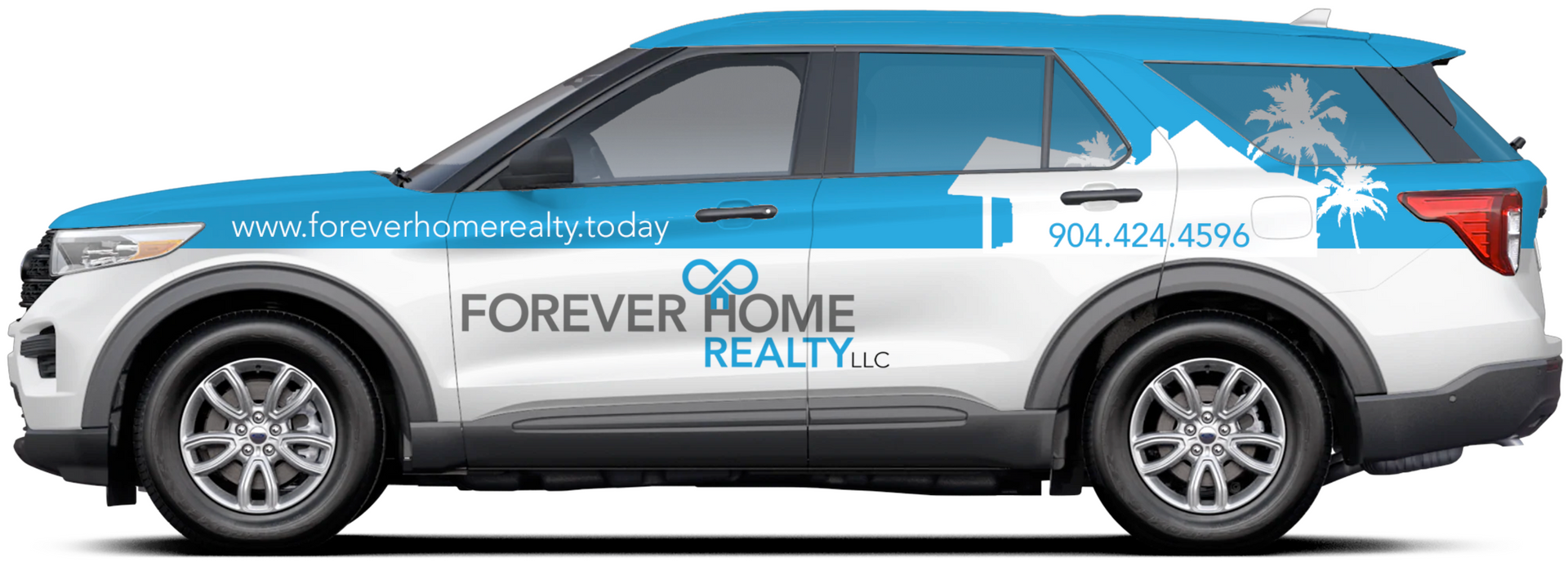 custom designed vehicle wrap for Forever Home Realty