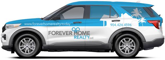 custom designed vehicle wrap for Forever Home Realty