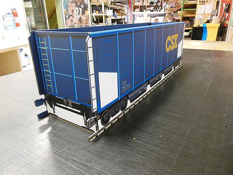 CSX railroad car cardboard display