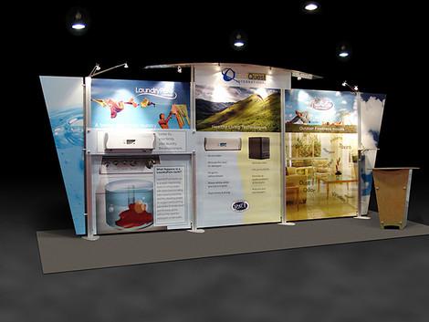 ecoquest 20' tradeshow display