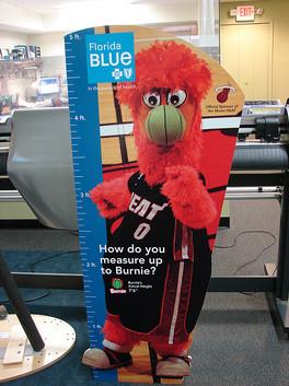 BCBS Burnie cut out display