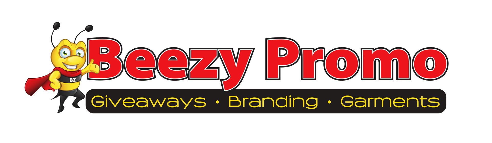 Custom logo of a bee for Beezy Promo