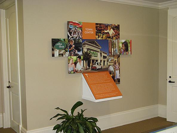 environmental design wall display for a realty company