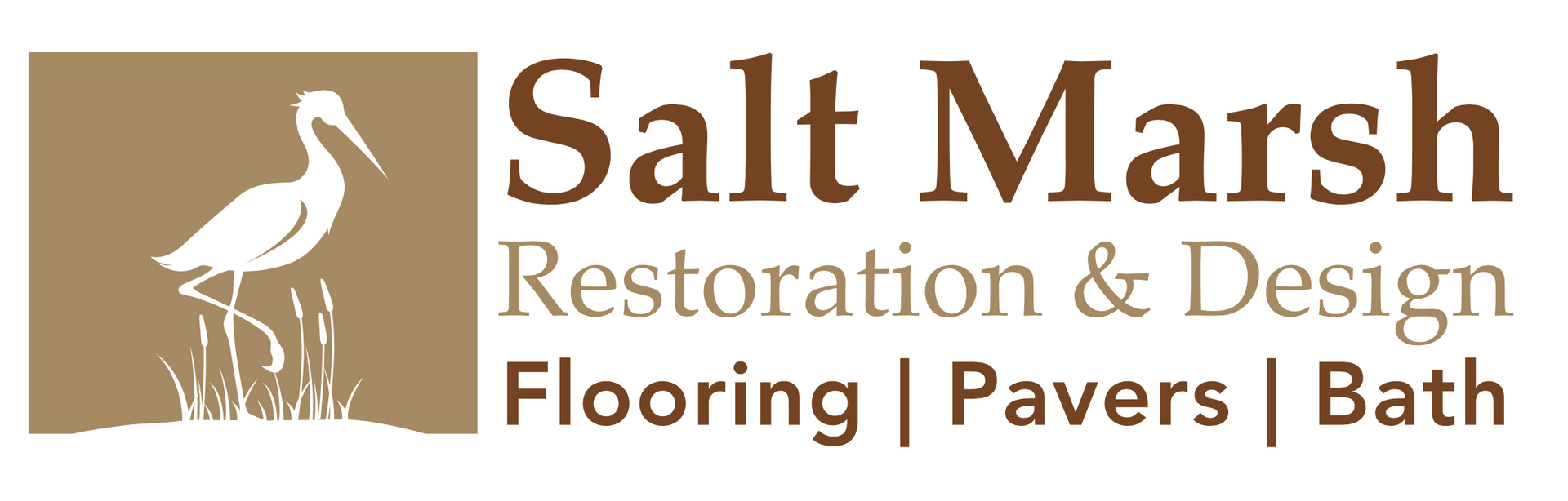 custom logo of a Florida waterbird for Salt Marsh Flooring company