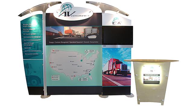 AV Logistics trade show display